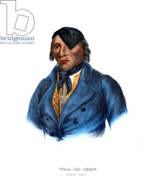 Waapashaw, a Sioux chief