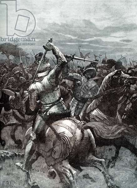 Richard III at the Battle of Bosworth Field