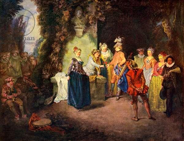 Rococo genre scene: French Comedy -