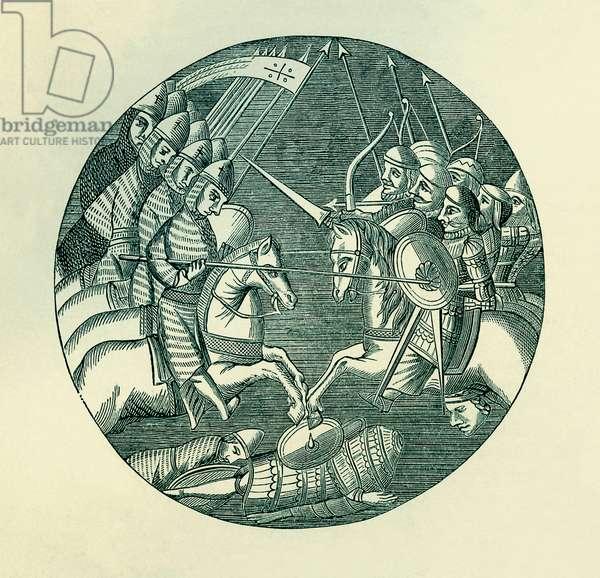 Combat between Crusaders and Saracens
