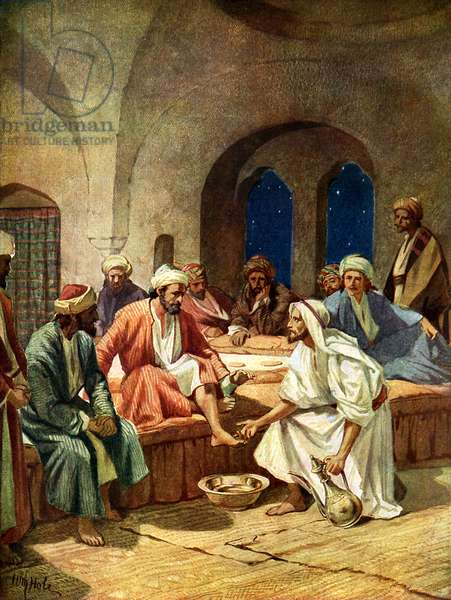 Jesus washes Peter's feet - Bible