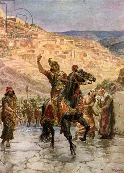 Assyrian Rabshakeh demands  surrender of Jerusalem - Bible