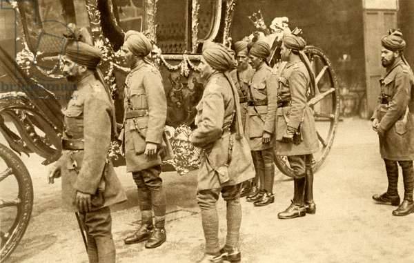 World War 1: Indian cavalry soldiers in London