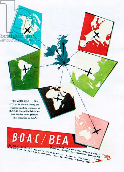 Advertisement for BOAC / BEA 1950s