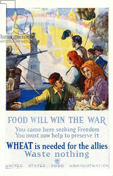 American First World War food waste propaganda