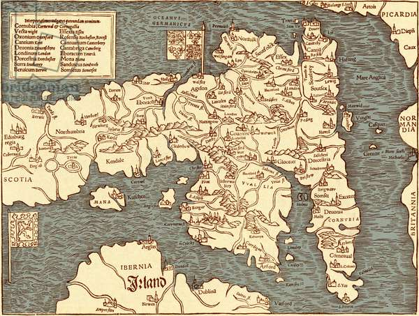 England - map in Ptolemy 's 'Geographia Universalis'