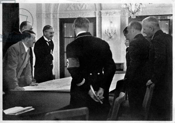 Adolf Hitler and Neville Chamberlain, 1938