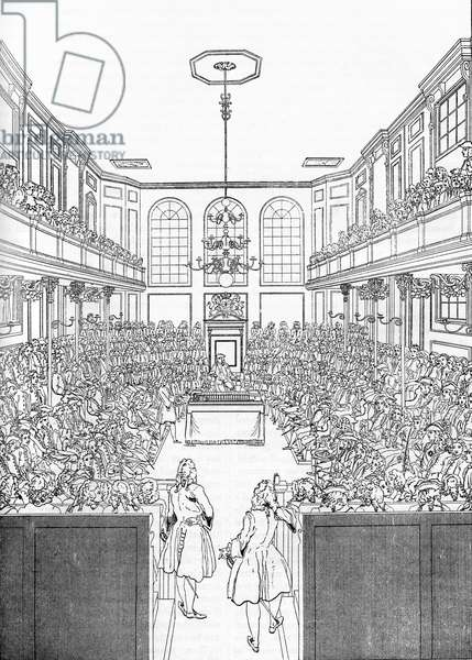 House of Commons in London, 1742 - interior