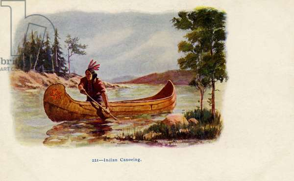 Native American canoeing