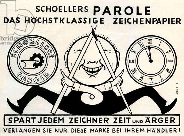 German paper advertisment, Schoellers Parole