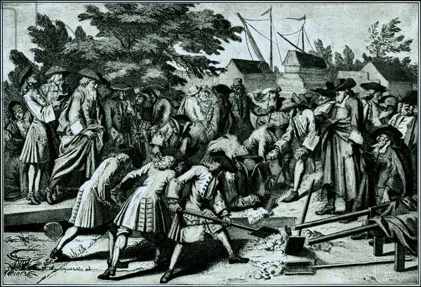 Jewish burial rites in early 18th Century.
