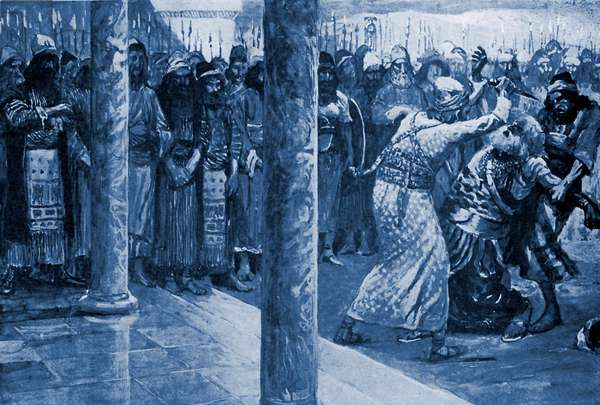 Samuel slays Agag by J James Tissot - Bible