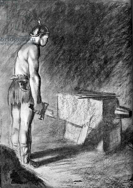 Prussian military weakness - World War I caricature