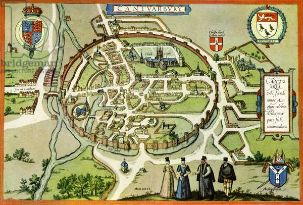Plan of Canterbury in the 16th century