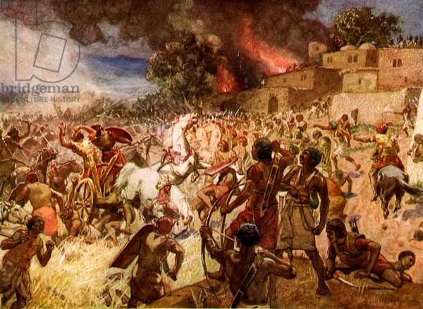 The death of King  Josiah at Megiddo - Bible