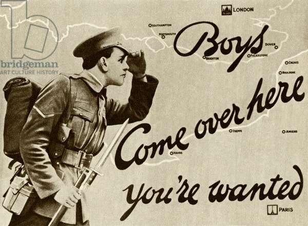 WW1 Recruitment poster