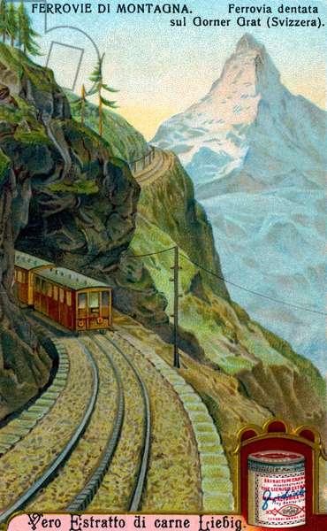 Rack-and-pinion railway on  Gorner Ridge