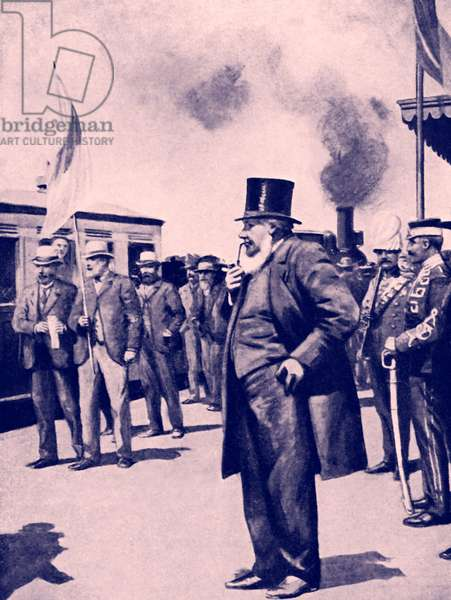 President Paul Kruger at Bocksburg, South Africa
