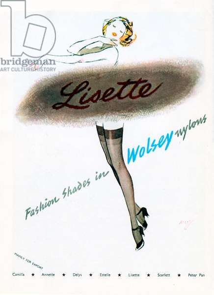 Advertisement for Lisette stockings 1950s