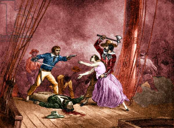 Morgan the Pirate captures the beautiful Spaniard