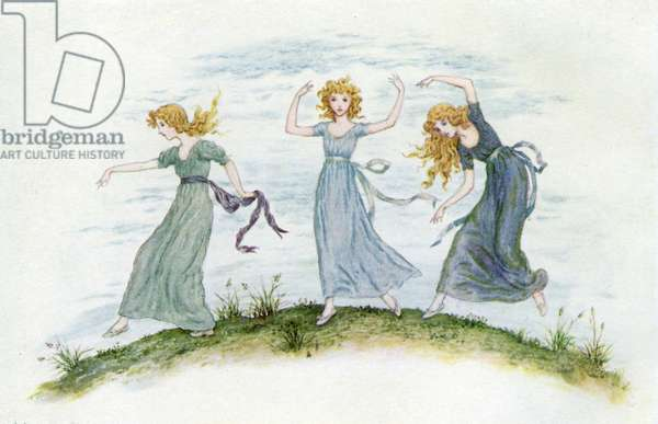'The dancing of the felspar fairies'  by Kate Greenaway