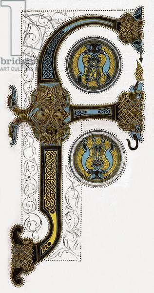 Manuscript illumination 9th century