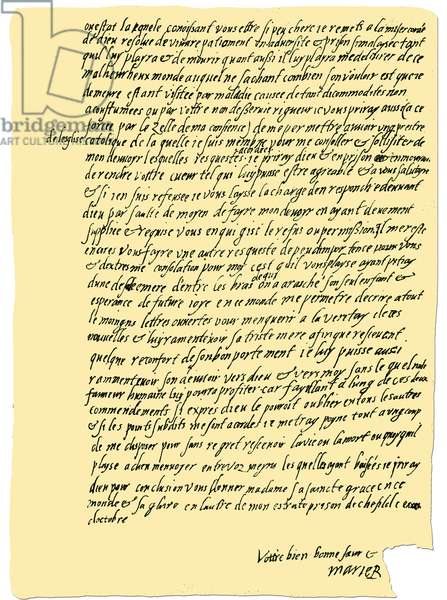 Autograph: Letter from Mary Queen of Scots 1571.