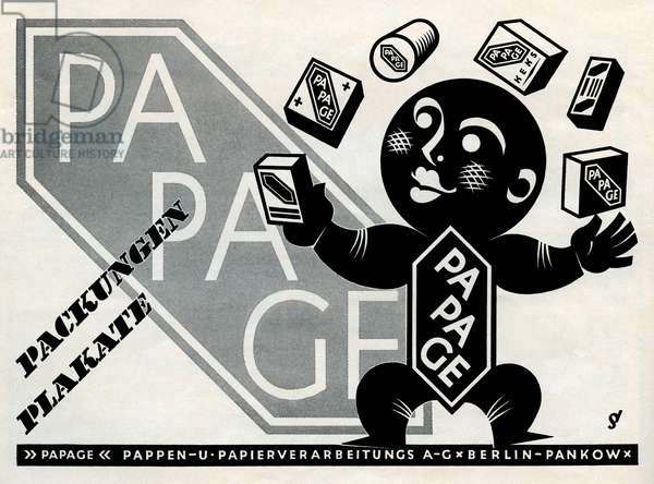 German packaging advertisment, Papage