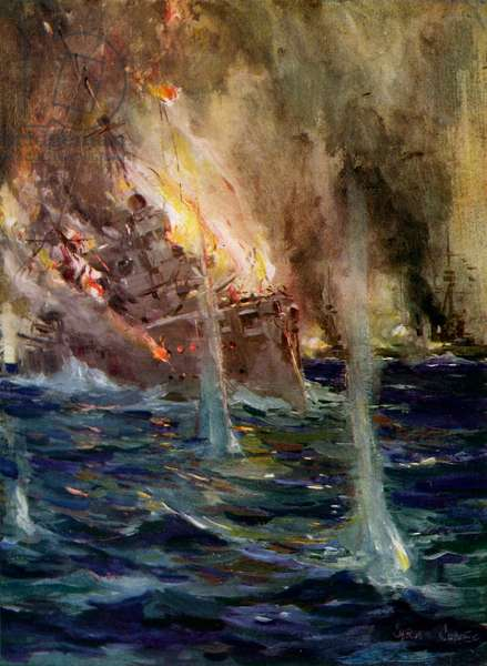 World War I- The sinking of the Gneisenau