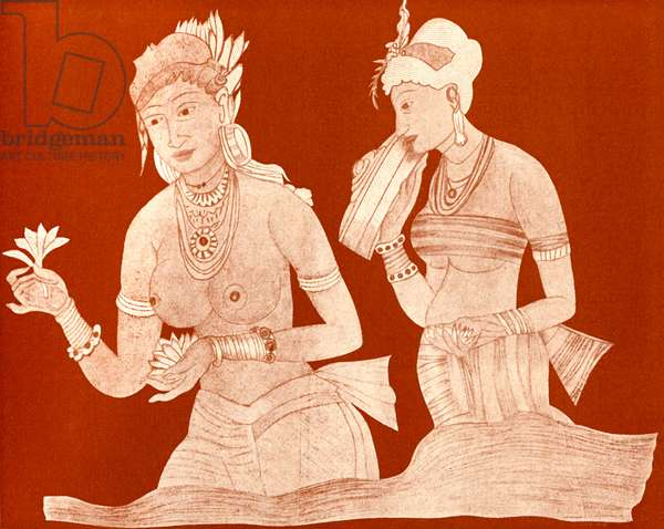Indian princess with a servant girl