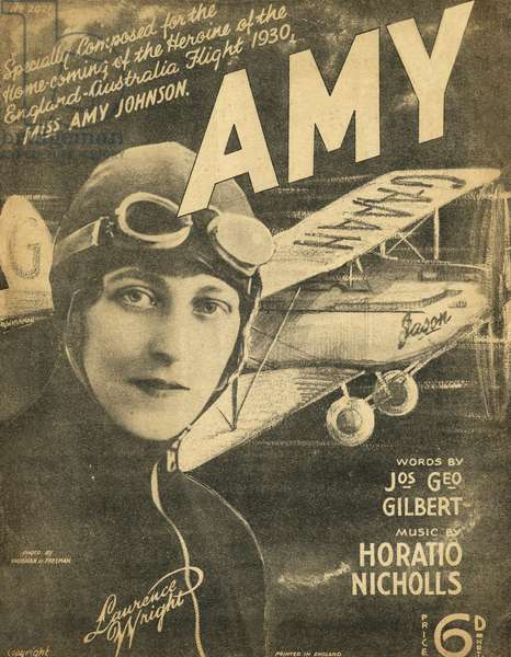 Amy Johnson- song about her entitled 'Amy'