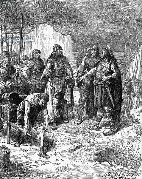 Hengist and Horsa 's treaty with Vortigern