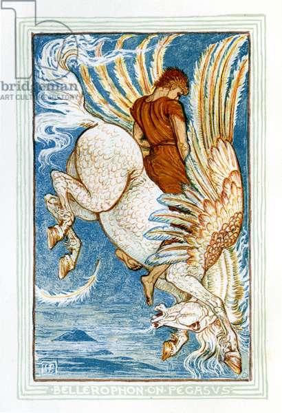 Bellerophon riding Pegasus