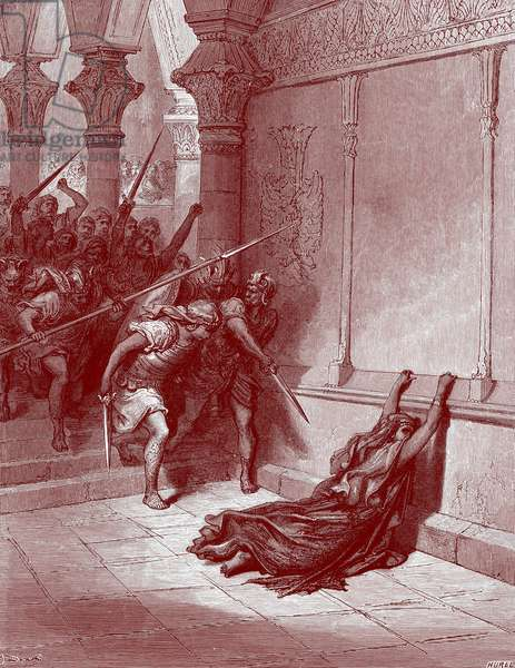 Death of Athaliah  by Doré - Bible