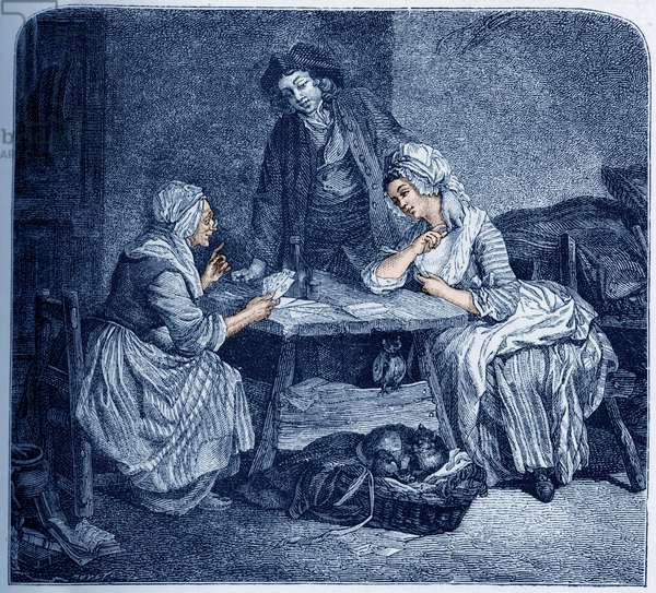French 18th century fortune-teller