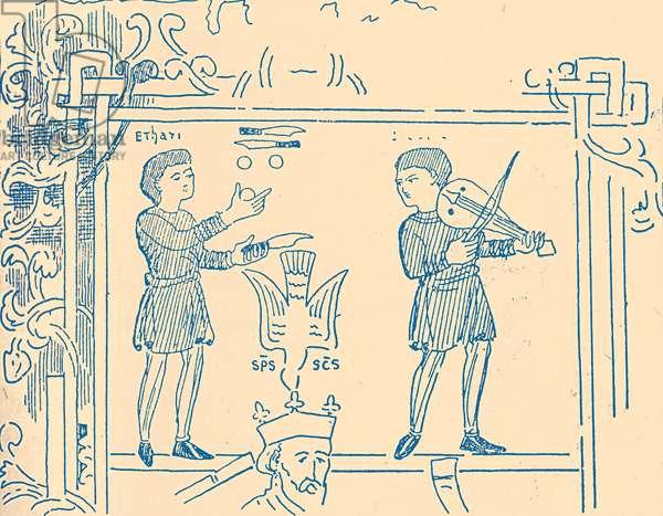 ' Juggling Gleemen' - Medieval entertainers