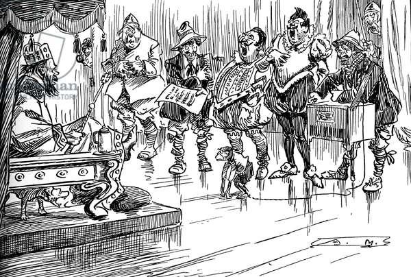 'First glimmer of 'Kultur' ' - British caricature