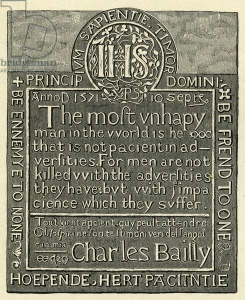 Charles Bailly 's cravings in the Tower of London