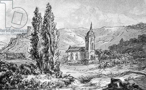 Johann Wolfgang von Goethe 's sketch