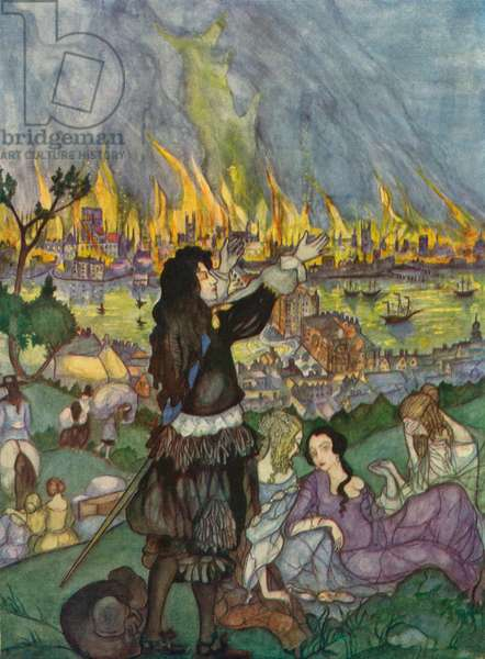 The Great Fire of London - illustration by  Kitty Shannon