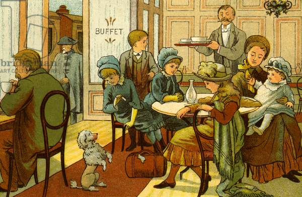 Victorian holidays - refreshments in the buffet
