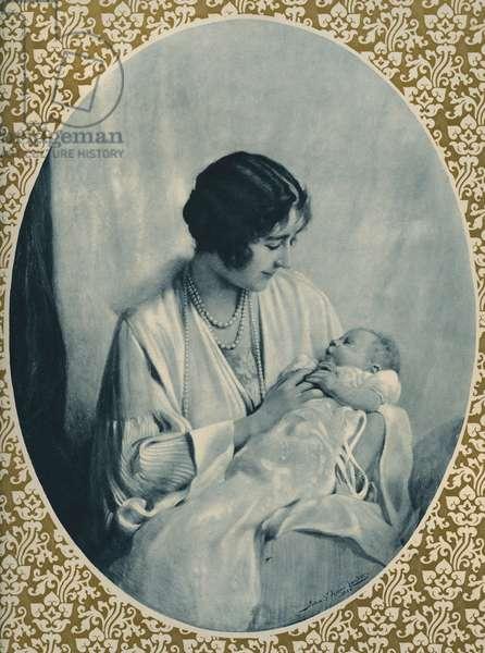 Portrait of Elizabeth II and Queen Mother