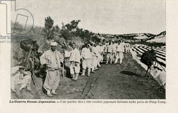 5000 Japanese coolies during Russo-Japanese War
