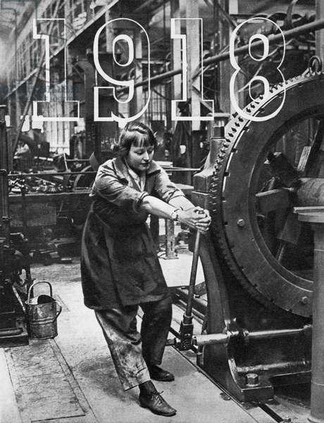 Female factory worker WW1