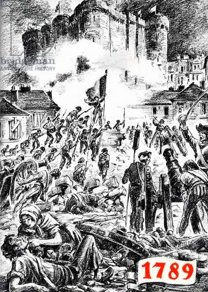 French Revolution street scene, 1789