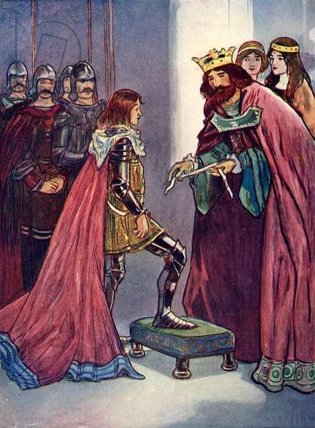 Edward III knights his son