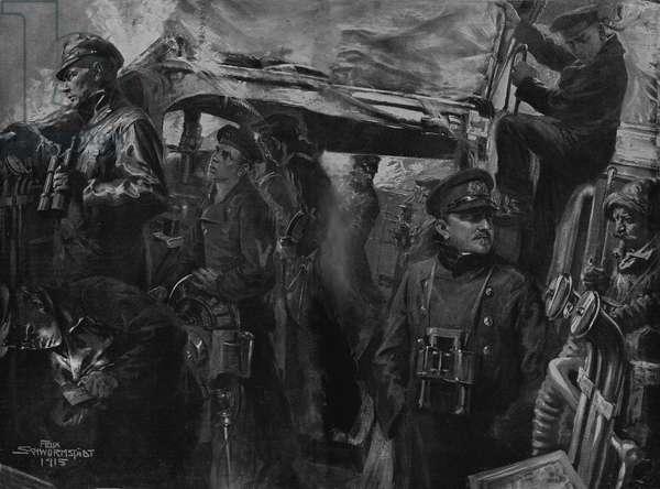 World War 1: German marines on torpedo boat