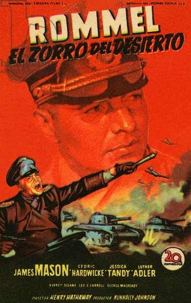 Rommel, The Desert Fox - 1951 film (Spanish poster)