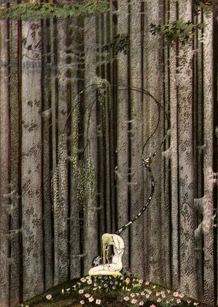 The Gloomy Thick Wood by Kay Nielsen