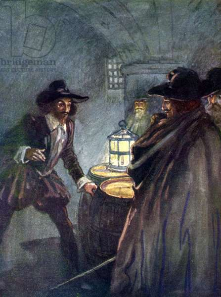 Guy Fawkes arrested in the cellars beneath Parliament